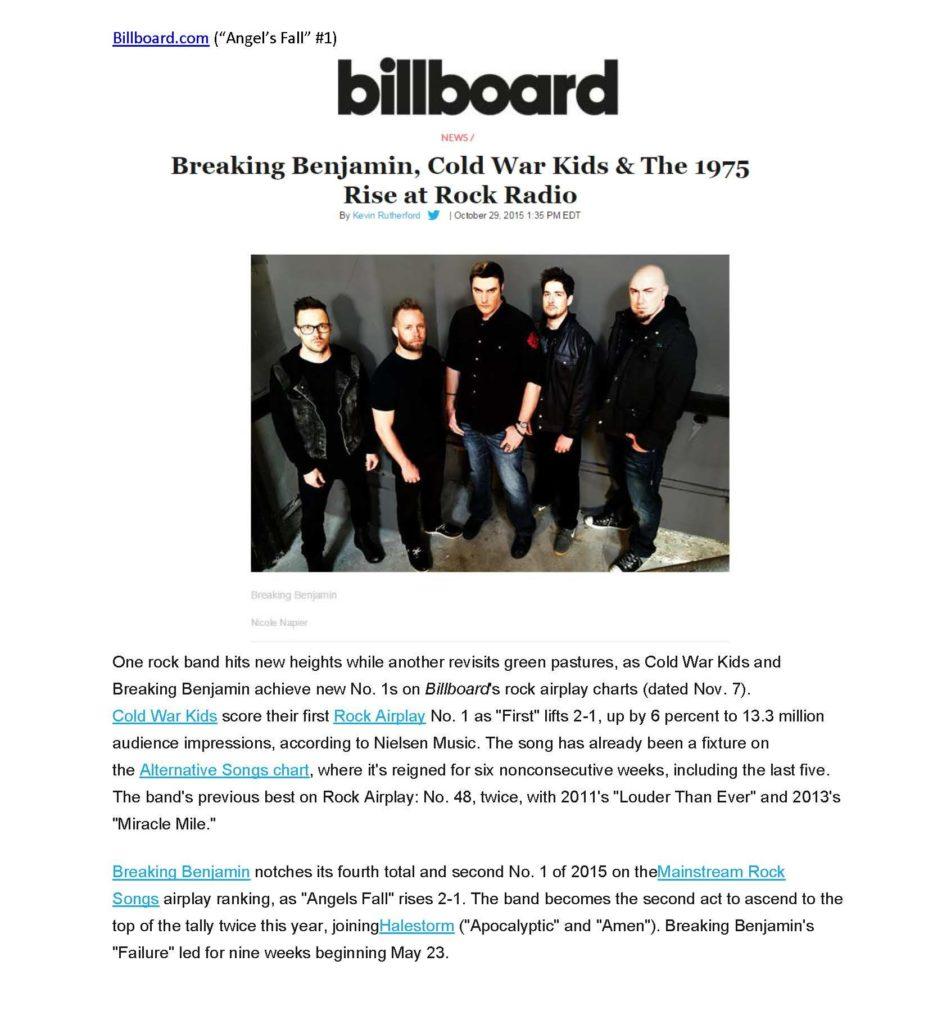 Breaking Benjamin Media Kit | Hollywood Records